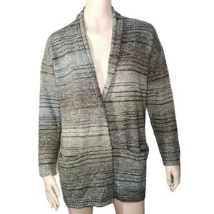 Max Edition Ombre Earth Tones Open Front Cardigan
